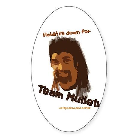Team Mullet Oval Sticker