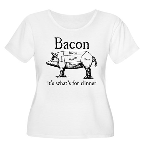 Bacon: It's what's for dinner Women's Plus Size Sc