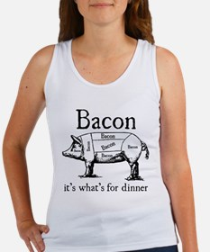 Bacon: It's what's for dinner Women's Tank Top