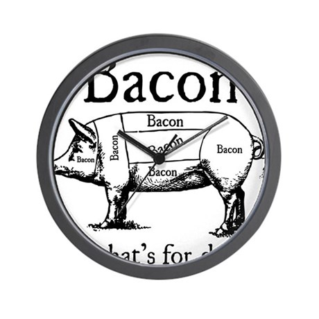 Bacon: It's what's for dinner Wall Clock