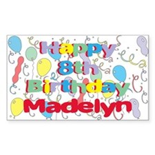 Madelyn's 8th Birthday Rectangle Decal