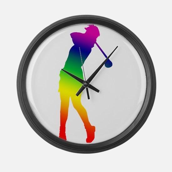 Golfer Large Wall Clock