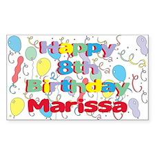 Marissa's 8th Birthday Rectangle Decal