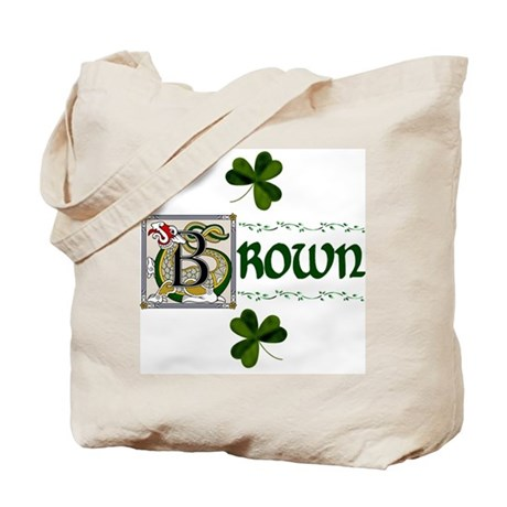 Brown Celtic Dragon Tote Bag