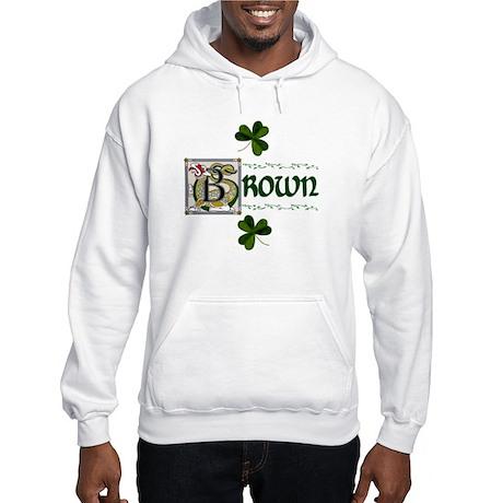 Brown Celtic Dragon Hooded Sweatshirt