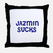 Jazmin Sucks Throw Pillow