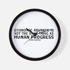 Quote - Clapham - Human Progress Wall Clock