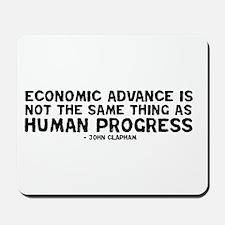 Quote - Clapham - Human Progress Mousepad