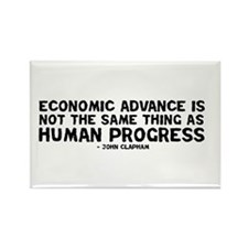 Quote - Clapham - Human Progress Rectangle Magnet