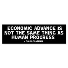 Quote - Clapham - Human Progress Bumper Bumper Sticker