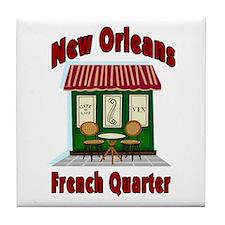 New Orleans French Quarter Ca Tile Coaster