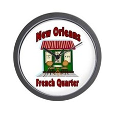 New Orleans French Quarter Ca Wall Clock