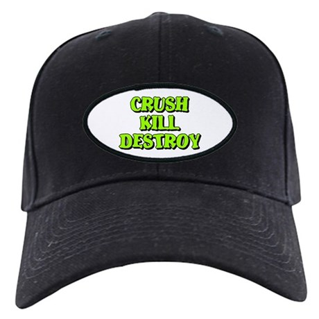 Crush Kill Destroy Black Cap