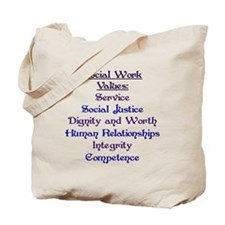 Social Work Values Tote Bag