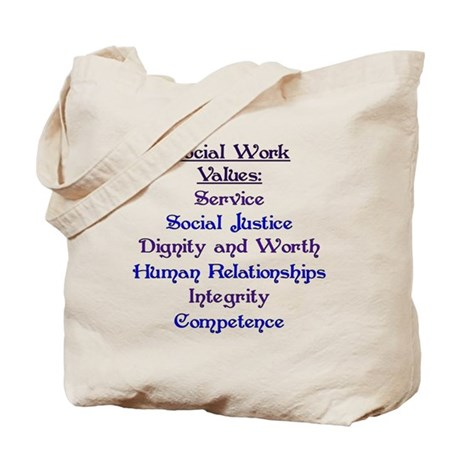 Social Work Values Tote Bag