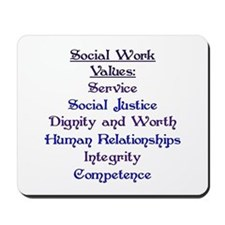 Social Work Values Mousepad