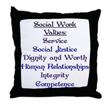 Social Work Values Throw Pillow
