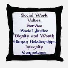 Social Work Values Throw Pillow