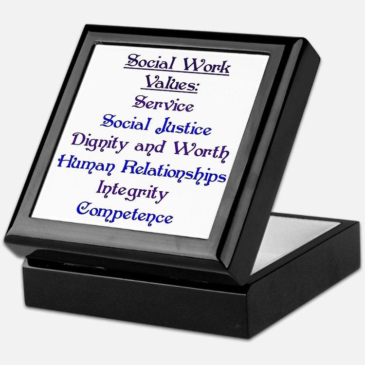 Social Work Values Keepsake Box