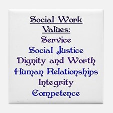 Social Work Values Tile Coaster