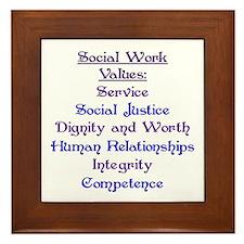 Social Work Values Framed Tile