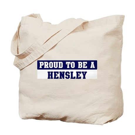 Proud to be Hensley Tote Bag