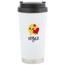Vegan Love Stainless Steel Travel Mug