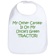 Carseat Uncles Green Tractor Bib
