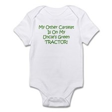 Carseat Uncles Green Tractor Infant Bodysuit