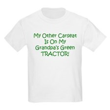 Carseat Grandpas Green Tractor T-Shirt
