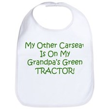 Carseat Grandpas Green Tractor Bib