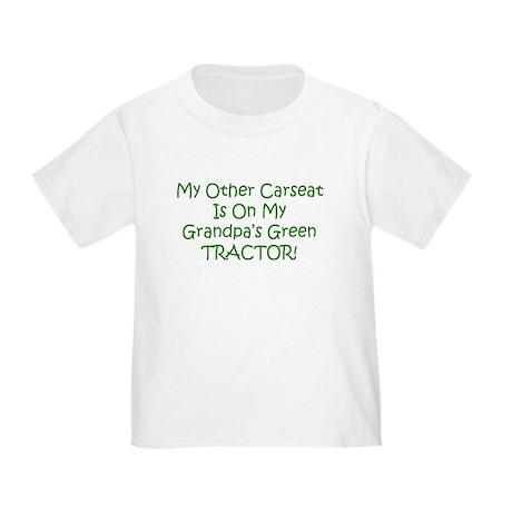 Carseat Grandpas Green Tractor Toddler T-Sh