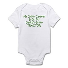 Carseat Daddys Green Tractor Infant Bodysuit