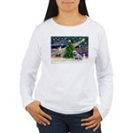 Xmas Magic & Bulldog Women's Long Sleeve T-Shirt