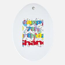 Shane's 7th Birthday Oval Ornament