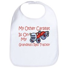 Carseat Grandmas Red Tractor Bib