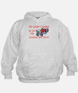 Carseat Grandpas Red Tractor Hoody