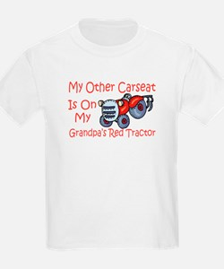 Carseat Grandpas Red Tractor T-Shirt