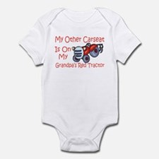 Carseat Grandpas Red Tractor Infant Bodysuit