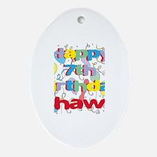 Shawn's 7th Birthday Oval Ornament