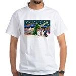Xmas Magic & Collie White T-Shirt