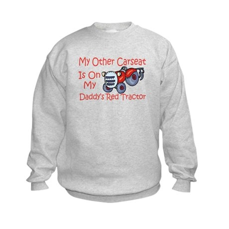 Carseat Daddys Red Tractor Kids Sweatshirt