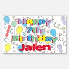 Jalen's 7th Birthday Rectangle Decal