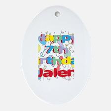 Jalen's 7th Birthday Oval Ornament