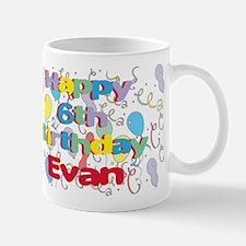 Evan's 6th Birthday Mug