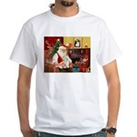 Santa's Coton de Tulear White T-Shirt