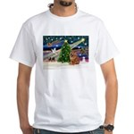 Xmas Magic & Chow White T-Shirt