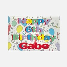 Gabe's 6th Birthday Rectangle Magnet