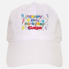 Gage's 6th Birthday Baseball Baseball Cap