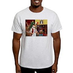 Santa & Akita T-Shirt